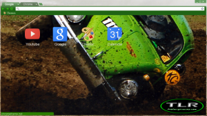 Screen shot of The Green Booger theme, v1.0. Click to view the larger image.