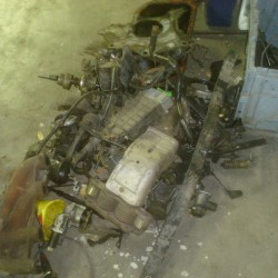 What a mess. Corrado, Jetta, and Vanagon parts.
