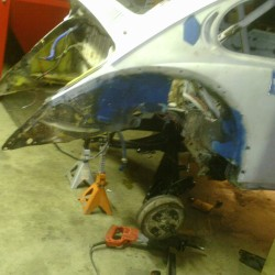The rear before torsion bars.