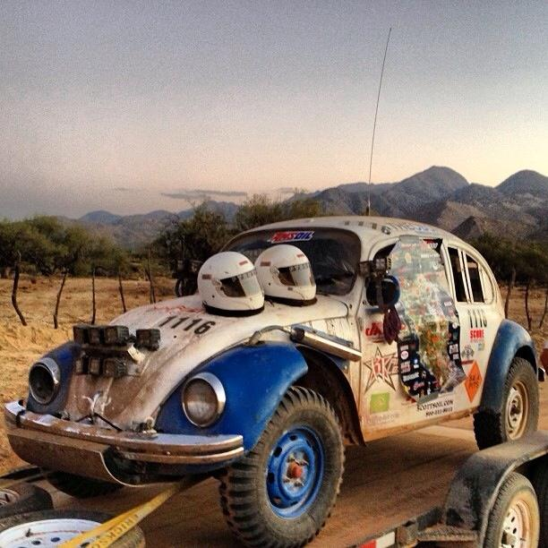 "Class 11 car 1116 ""The Ghost"" after the 2013 SCORE Baja 1000. CBCFS Racing"