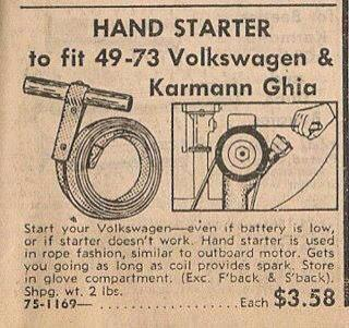 VW Hand Starter...maybe TLR should start producing these for racers.