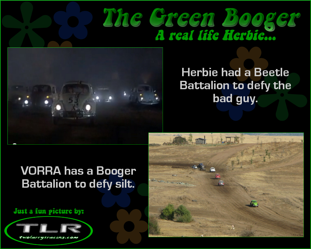 The posse follows Herbie and Class 11 the Green Booger.