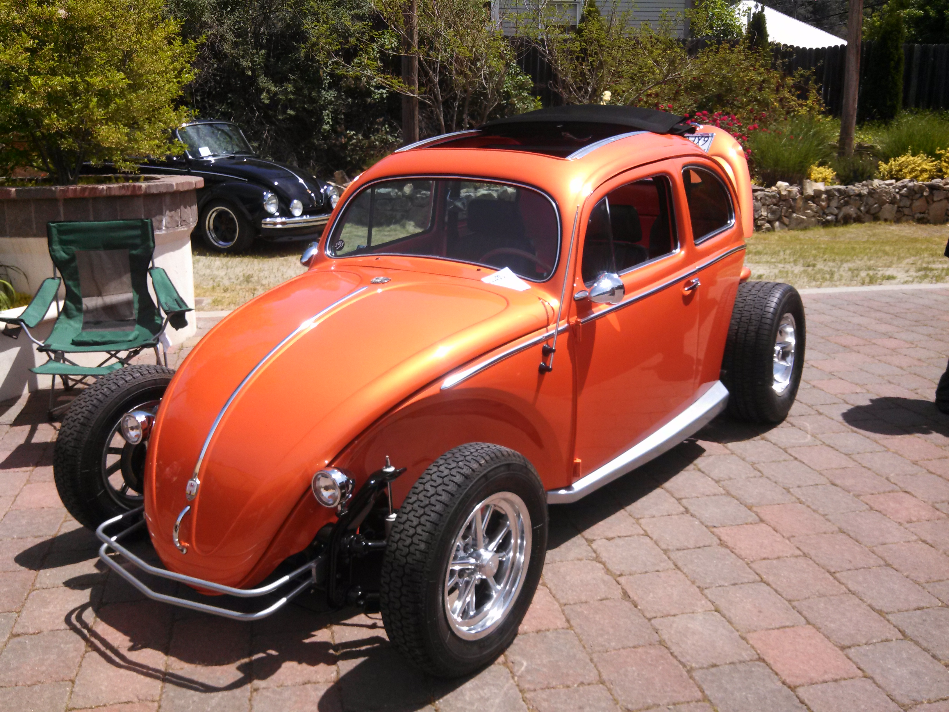 '57 Oval window ragtop with a 1914 turbo engine by TLR, owned by Brad Martin of Placerville, CA.