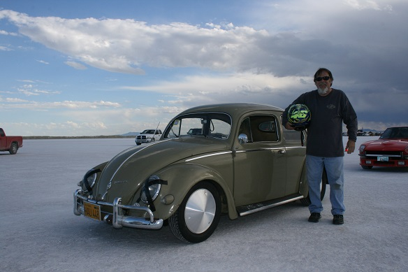 Bob Dodero and his World Record holding oval window. Photo by Burly Burlile.