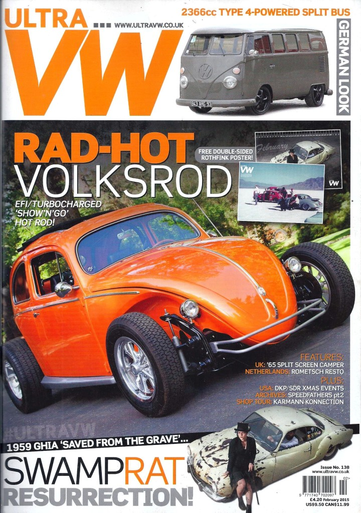On the cover of Europe's UltraVW February 2015. Click to view the article in PDF format.
