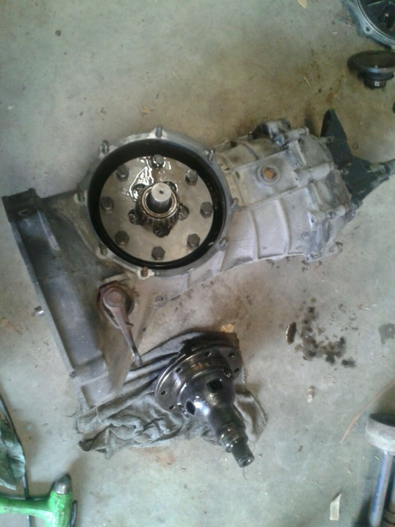 Installed differential in this transmission.