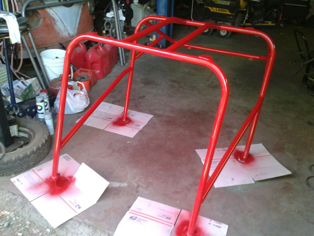 Custom roll cage with specific requests from the buggy's owner.