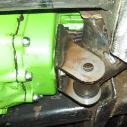 Custom transmission mount.