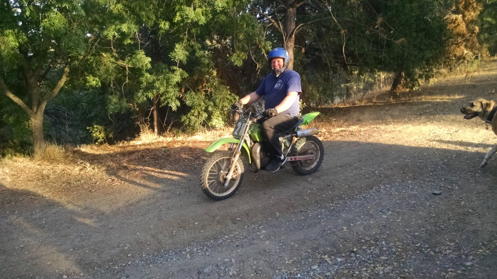 Gary on the bike.